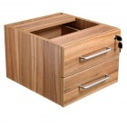 Apley executive 2-drawer fixed pedestal walnut