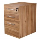 Apley executive 3-drawer full-height mobile pedestal walnut