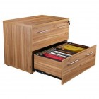 Apley executive 900 x 600 2-drawer side filing cabinet walnut