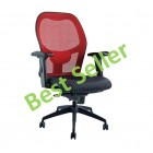 High back Mesh chair with synchro mechanism BLACK BASE