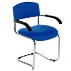 Chrome cantilever arm chair