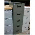 Second-hand 5 drawer Filing Cabinet in Grey