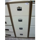 Second-hand 4 drawer filing cabinet COFFEE CREAM
